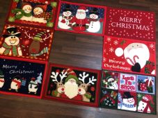 3x RANDOM NON SLIP CHRISTMAS MATS 40x60CM ALL CHOSEN AT RANDOM.WASHABLE, XMAS